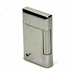Pierre Cardin Pipe Lighter Polished Chrome