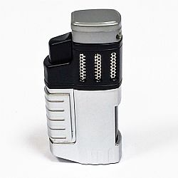 COOL 4-flame jet lighter silver