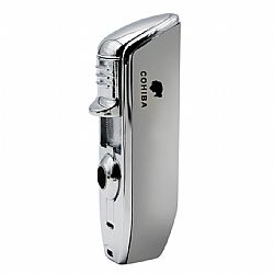 Cohiba 3 Jet Lighter with Punch Silver