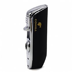 Cohiba 3 Jet Lighter with Punch Black