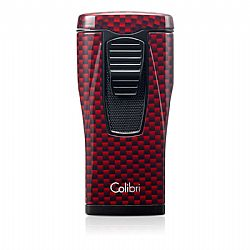 Colibri Monaco Red Carbon Fiber Triple Jet Flame