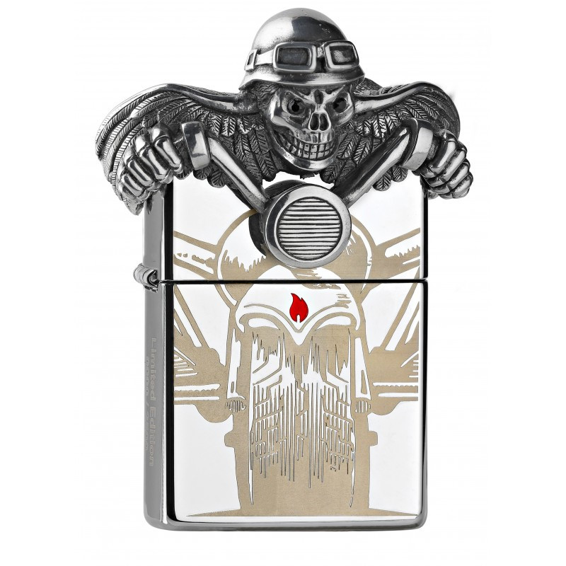 Zippo Limited Edition Ghost Rider 3D Chrome Lighter [2005399]