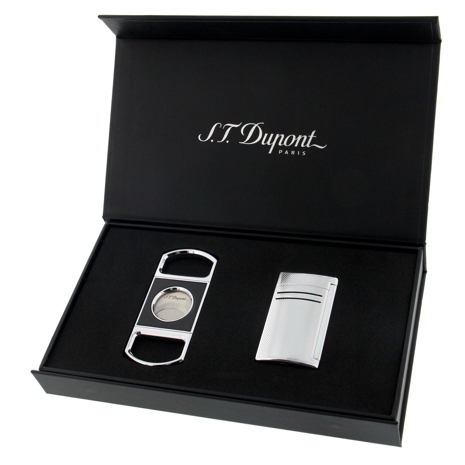 S.T. Dupont Set - MaxiJet Chrome Grid & Cigar Cutter