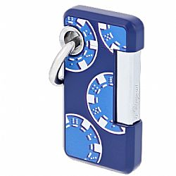 S.T. Dupont Hooked Casino Lighter (Blue)