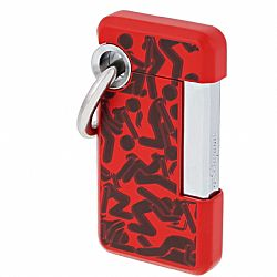 S.T. Dupont Hooked Kamasutra Lighter (Red)